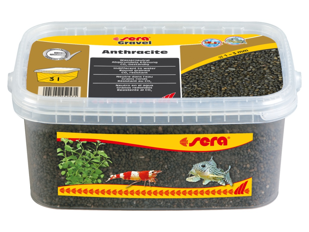 sera Gravel Anthracite 3l (O 1 až 3 mm)