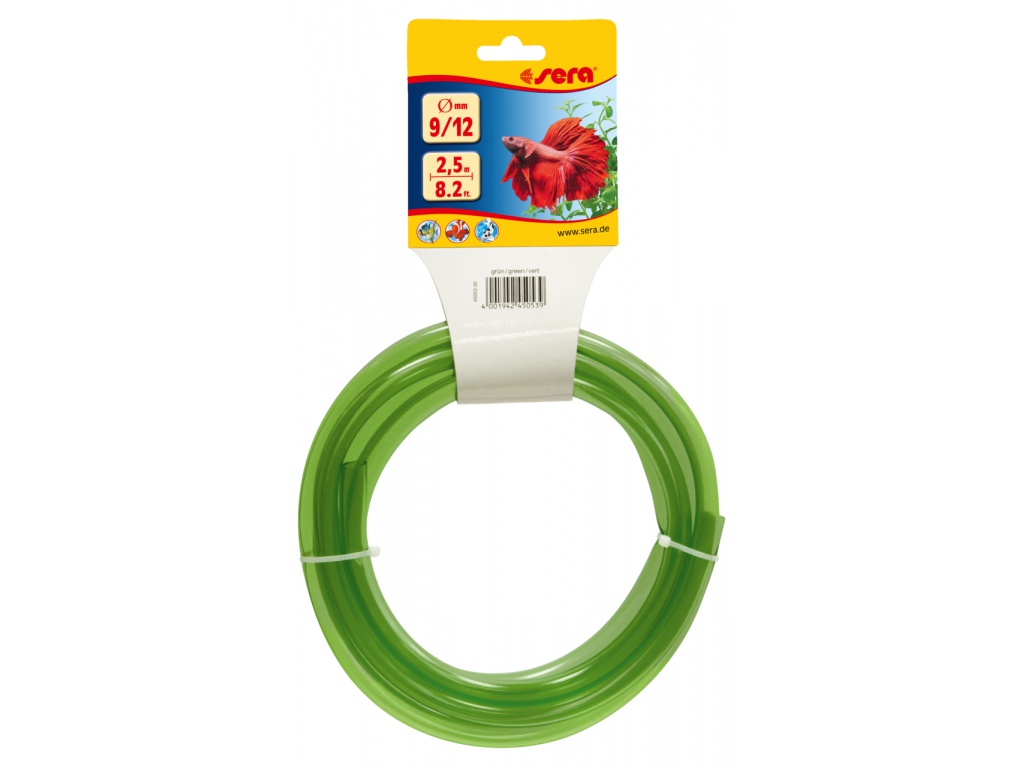 sera pružná hadice na vodu 9/12 2,5 m zelená