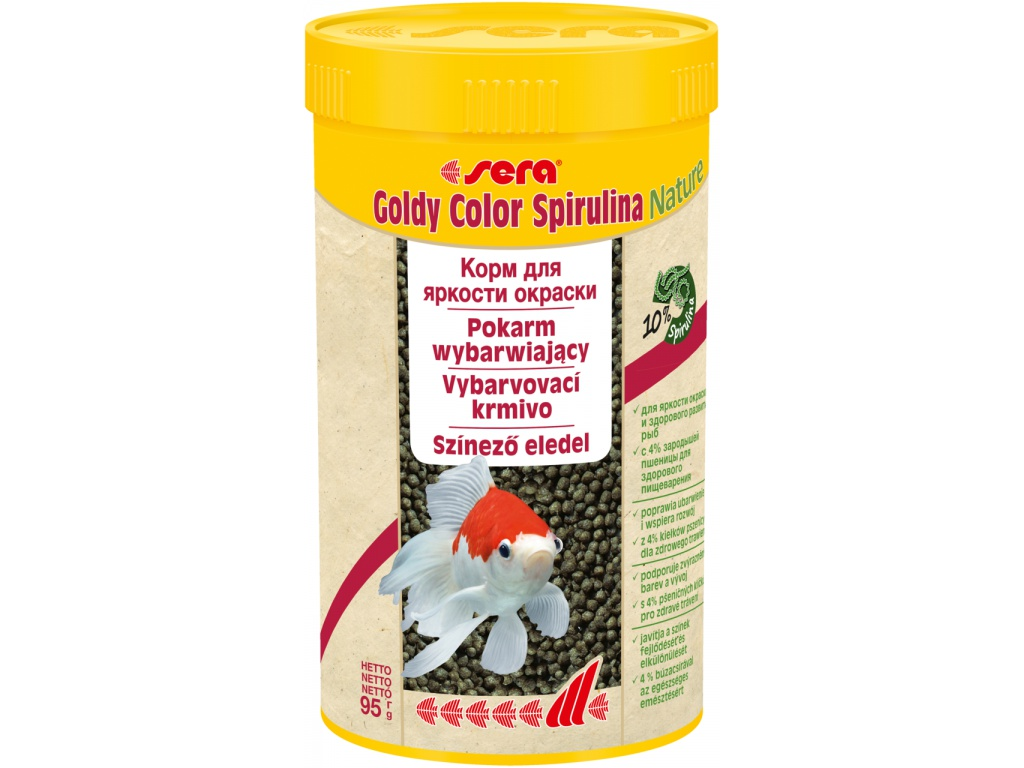 sera goldy color spirulina Nature 250 ml