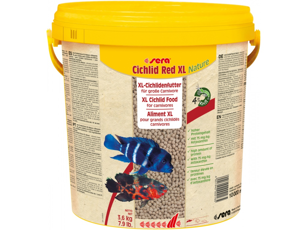 sera Cichlid Red XL Nature 10 l
