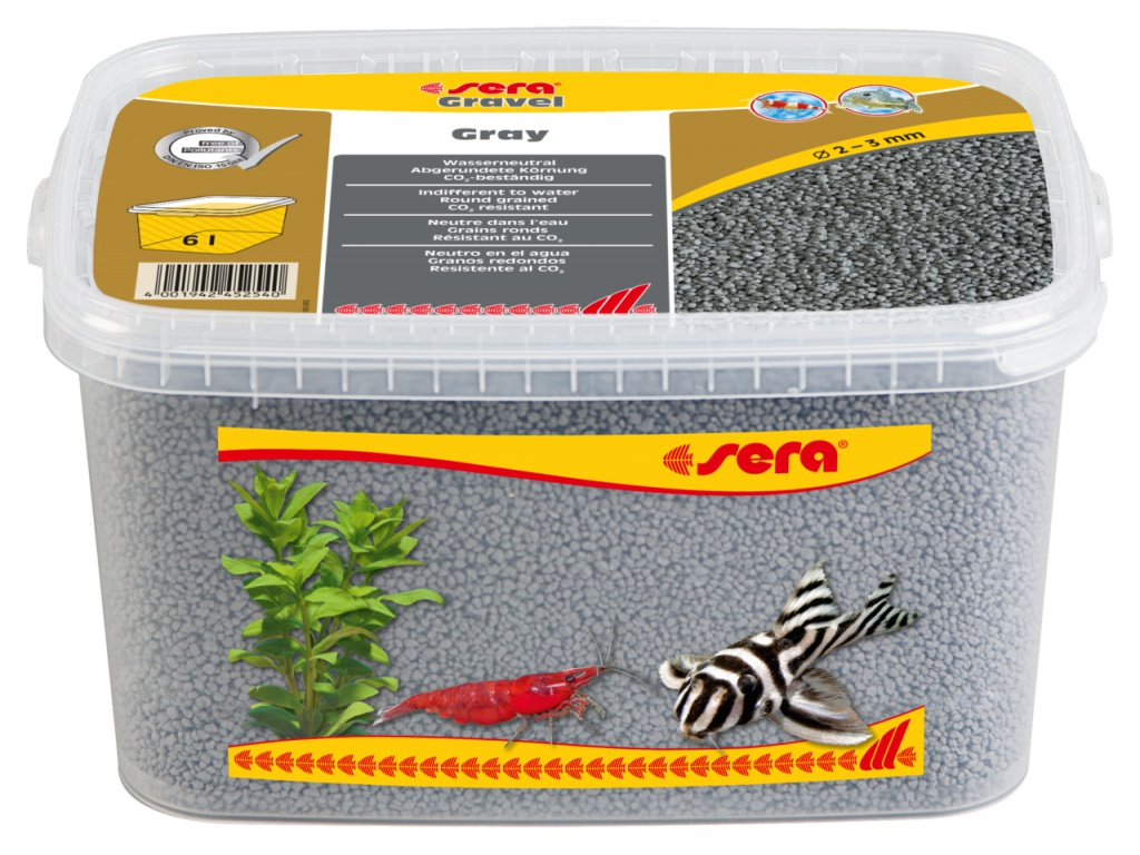 sera Gravel Grey 6l (O 2 až 3 mm)