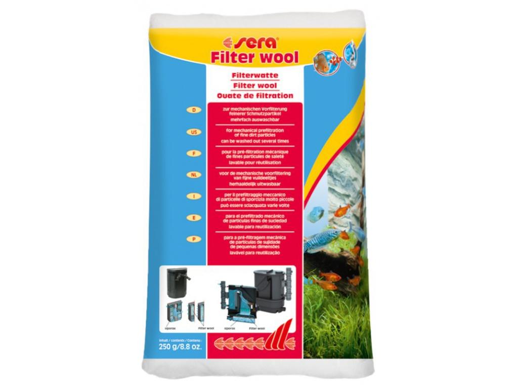 sera filtrační vata bílá 250 g