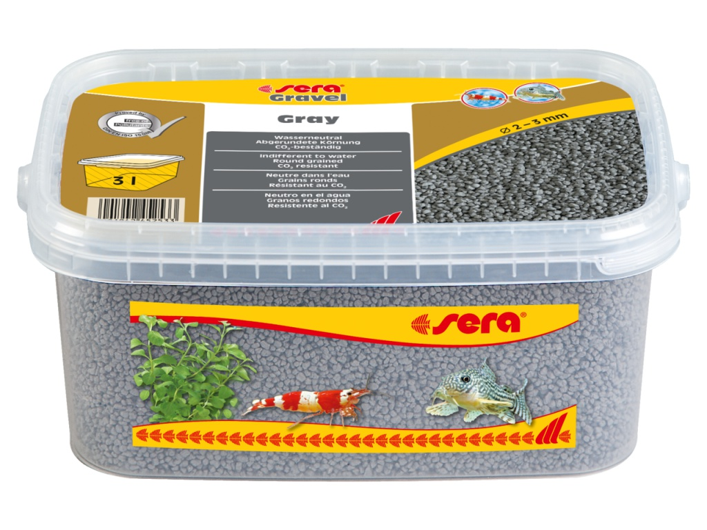 sera Gravel Grey 3l (O 2 až 3 mm)