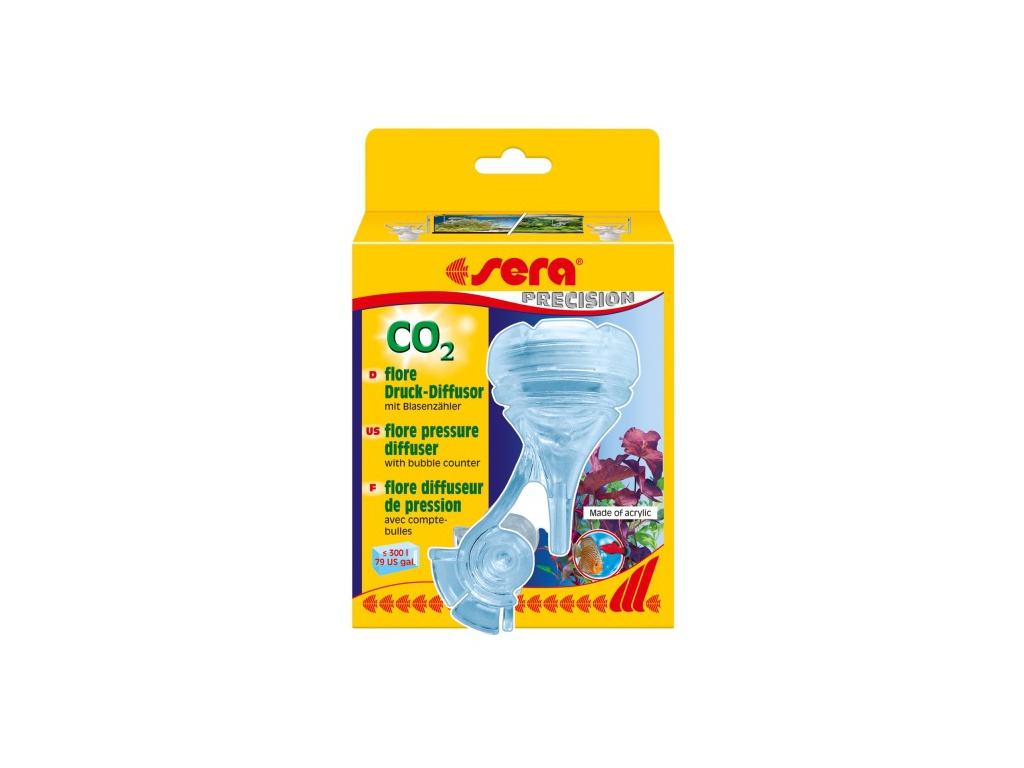 sera flore CO2 tlakový difuzor