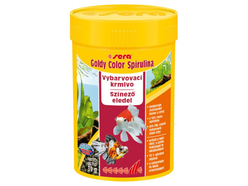 sera goldy color spirulina 100 ml
