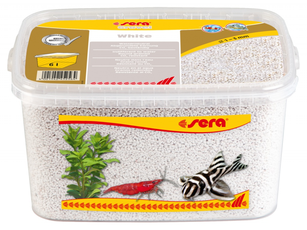 sera Gravel White 6l (O 1 až 3 mm)
