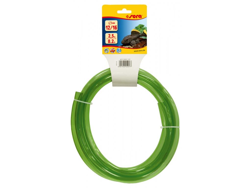 sera pružná hadice na vodu 12/16 2,5 m zelená
