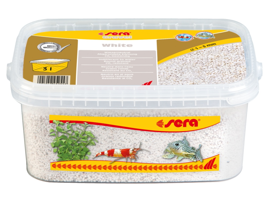 sera Gravel White 3l (O 1 až 3 mm)