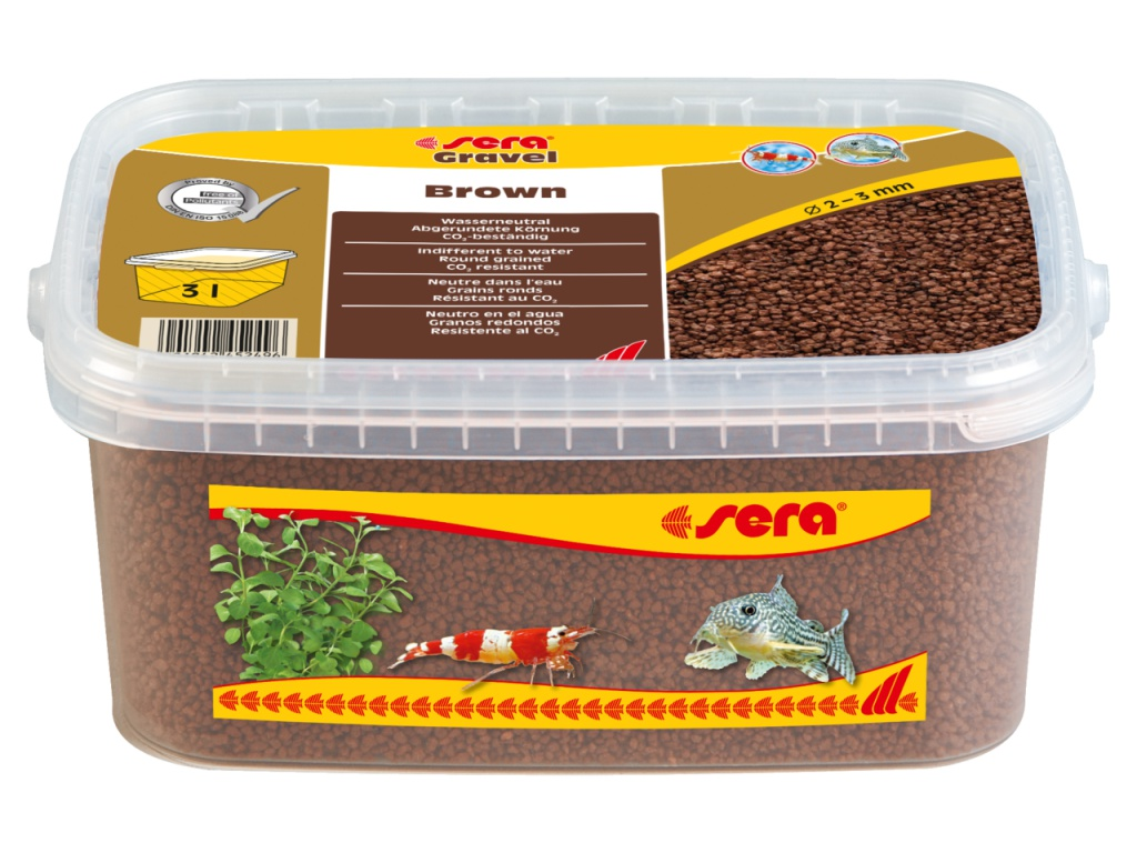 sera Gravel Brown 3l (O 2 až 3 mm)
